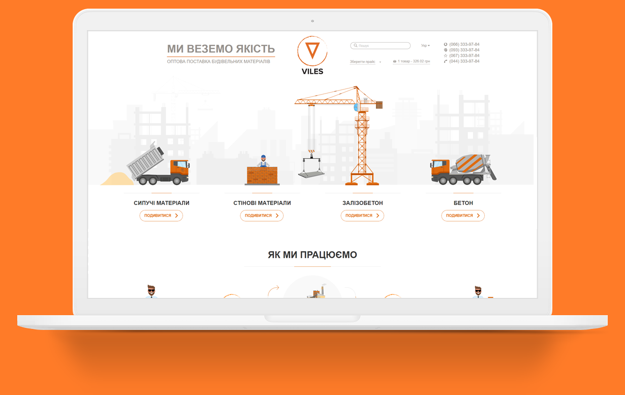 Redesign of the Viles website